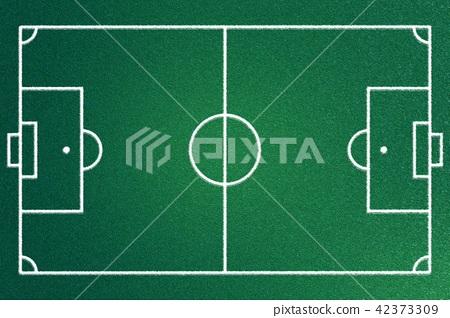 Fabric soccer field grass turf on green cotton  42373309