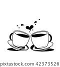 커피, 벡터, 상징 42373526