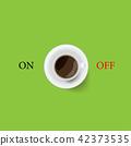 커피, 컵, 잔 42373535