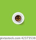 커피, 컵, 잔 42373536