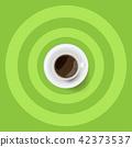 커피, 컵, 잔 42373537