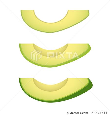 Avocado isolated on white 42374311