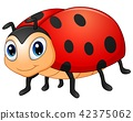 Cute ladybug cartoon 42375062