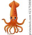 Squid cartoon 42375069