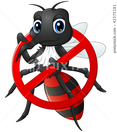 Vector Illustration Of Stop Mosquito Cartoon Stock Illustration 42375181 Pixta