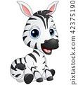 Vector illustration of Cute baby zebra cartoon 42375190