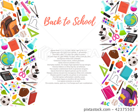 back to school composition 42375507