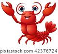 Cute lobster cartoon 42376724
