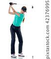 高尔夫 高尔夫球手 女人 42376995