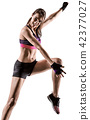 cardio boxing cross core workout fitness exercise aerobics woman 42377027