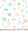 Sport theme seamless pattern background 42377108