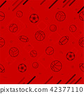 Sport theme seamless pattern background 42377110