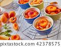 apricot, clafoutis, dessert 42378575