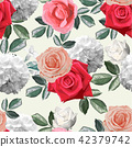 Floral Seamless pattern,Roses bouquet  42379742