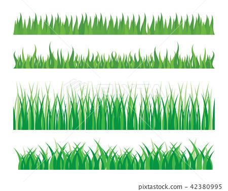 Vector green grass illustration 42380995