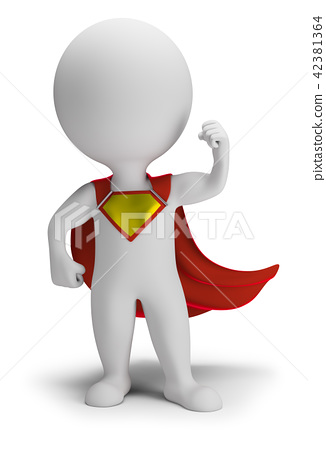 3d small people - superhero 42381364