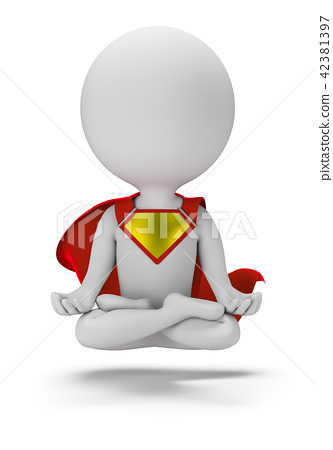 3d small superhero - levitation 42381397