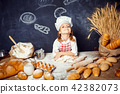 girl, dough, flour 42382073