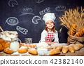 girl, dough, flour 42382140