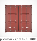 3D rendering Isolated brown cargo container 42383801