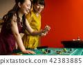 賭場輪盤賭的女人 42383885