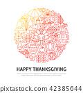 thanksgiving, background, illustration 42385644