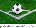 soccer ball and soccer field. 42385743