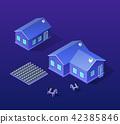 Isometric city of violet 42385846