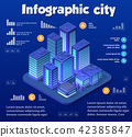 Isometric city of violet 42385847