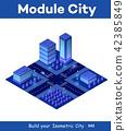 Isometric city of violet 42385849