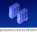 Isometric city of violet 42385850