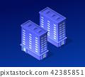 Isometric city of violet 42385851
