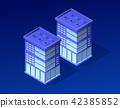 Isometric city of violet 42385852