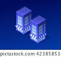 Isometric city of violet 42385853