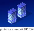 Isometric city of violet 42385854