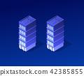 Isometric city of violet 42385855