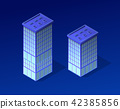 Isometric city of violet 42385856