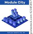 Isometric city of violet 42385857
