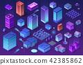 Isometric ultraviolet city 42385862