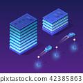 Isometric ultraviolet city 42385863