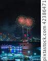 Firework festival at Pattaya Beach, Thailand 42386471