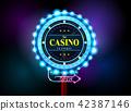 casino sign neon light outdoor 42387146