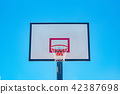 Basketball court, backboard, sky, blue, sport 42387698