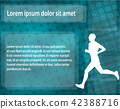 runner silhouette on the abstract background 42388716