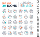 dishes, icon, set 42388942