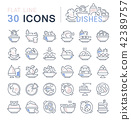 dishes, icon, set 42389757