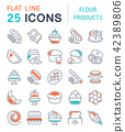 Set Vector Line Icons of Flour Products. 42389806