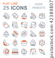 Set Vector Line Icons of Flour Products. 42389807