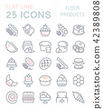 Set Vector Line Icons of Flour Products. 42389808