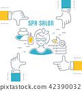 spa, salon, vector 42390032